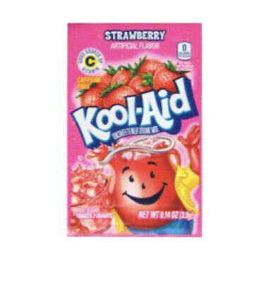 Kool Aid Strawberry 10pack Drink Mix Vitamin C • 7.15£