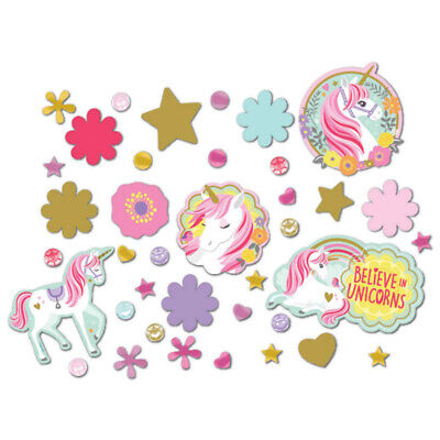 AU6.60 • Buy Party Supplies Birthday Girls Decorations Magical Unicorn Table Confetti