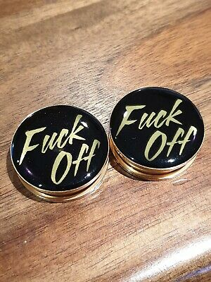AU10.95 • Buy Pair Stainless Steel  F*ck Off  Ear Plug Flesh Tunnels Stretcher Taper 6-30mm