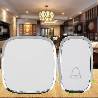 Wireless Door Bell Waterproof Wall Plug-in Chime Remote 300M 36 Tunes 25~85db UK • 9.59£