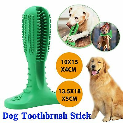 Dog Toothbrush Toy Clean Teeth Brushing Stick Pet Brush Mouth Chewing Clean • 8.49£