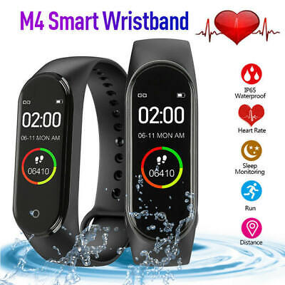 $ CDN7.16 • Buy M4 Smart Watch Band Heart Rate Blood Pressure Monitor Tracker Fitness Wristband