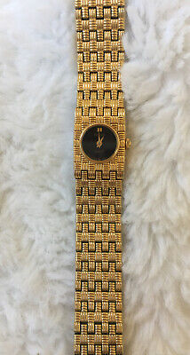 $ CDN39.48 • Buy Vintage Seiko Womens Wrist Watch Lattice Goldtone Tiny Black Face