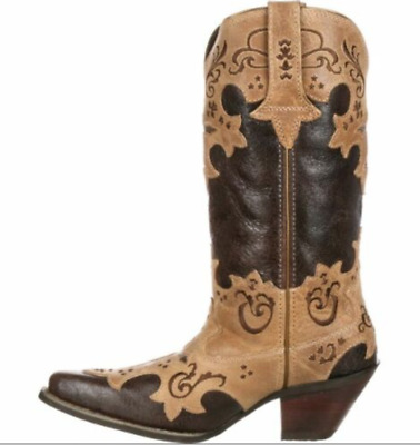 $29.97 • Buy Crush Durango Women's Cross Overlay Western Cowgirl Boot DCRD138 Medium Size 6