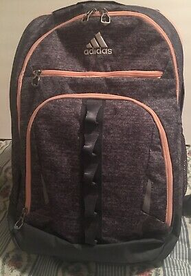 $40 • Buy Adidas Backpack Laptop School Bag Grey And Coral Trim Brand New  Huge