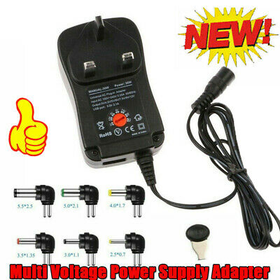 AU10.60 • Buy Adjustable Multi Voltage Power Supply Adapter AC To DC 3V 4.5V 5V 6V 7.5V 9V 12V