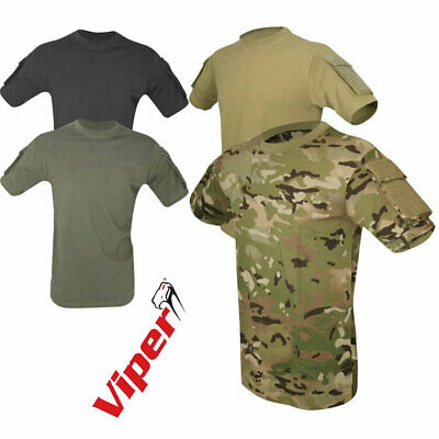 Tactical T-shirt Viper Airsoft Military Army Ops Ubacs Short Sleeve Top • 22.45£