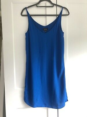 Topshop Blue Strappy Cami Dress Size 8 • 6£