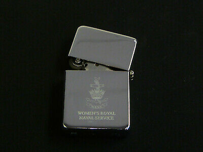 WRNS Womens Royal Naval Service Classic Flip Top Engraved Lighter • 9.49£
