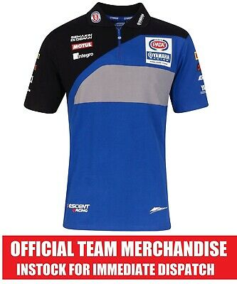 Pata Yamaha Racing Superbike WorldSBK Official Team Polo Shirt - Genuine NEW R1 • 18.99£