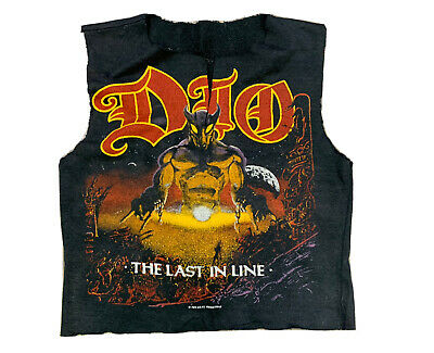 $49.99 • Buy VTG 1984 Dio The Last In Line Metal Band Graphic Cropped Shirt See Size Lengths