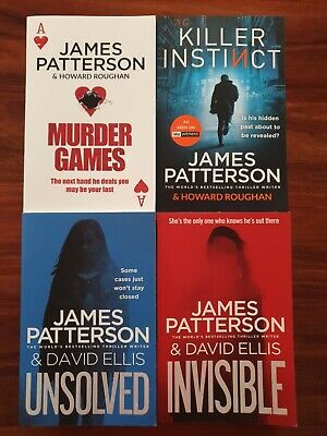 AU54.99 • Buy 4x James Patterson Books Invisible Unsolved Murder Games Killer Instinct