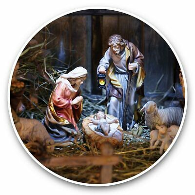 2 X Vinyl Stickers 10cm - Nativity Scene Christmas Christian Jesus  #45835 • 2.49£