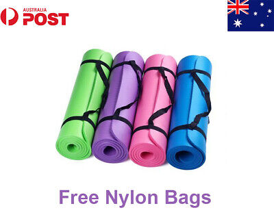 AU28.99 • Buy BLESSE 10MM Thick Yoga Mat Pad NBR Nonslip Exercise Fitness Pilate Gym