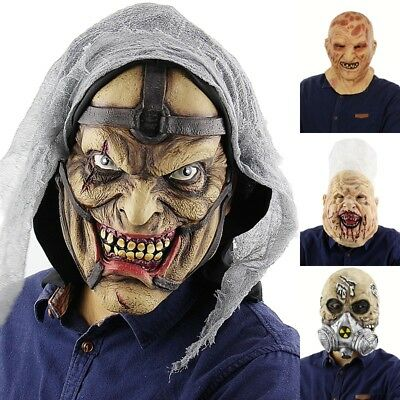 $ CDN13.17 • Buy Cosplay Prop Halloween Scary  Bloody Head Cover Horror Skull Face  Props