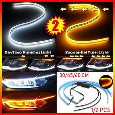2x Sequential LED Strip Turn Signal Indicator DRL Daytime Running Light Car Lamp • 7.59£