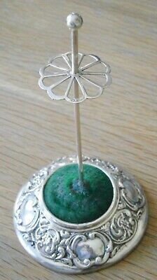 Hallmarked Solid Sterling Silver Hat Pin Stand Birmingham 1907  • 85£