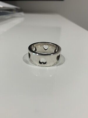 Genuine Tiffany Silver Ring With Heart Detail Good Condition NO BOX Or Case • 50£