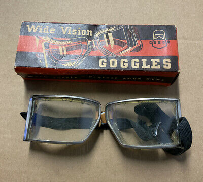 $9.99 • Buy Vintage  Wide Vision Goggles   Clear For Work Or Hipster