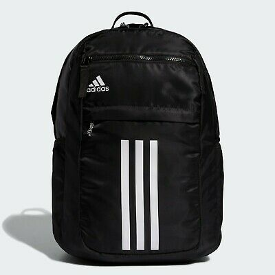 $49.99 • Buy Adidas League 3-Stripe Backpack Laptop School Gym Backpack, Black-White, NEW!