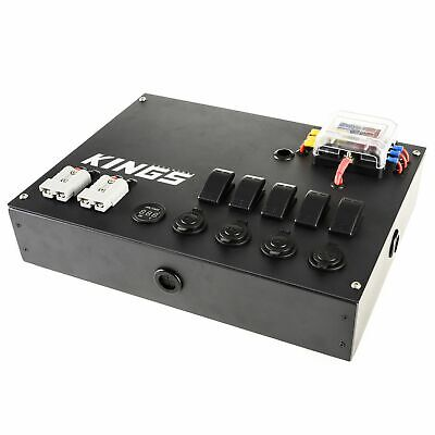 AU149 • Buy Adventure Kings 12V Control Box 5x 16A Pre-wired Switches 2 USB Port 4WD Caravan