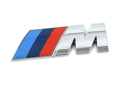 AU7.95 • Buy M-Sport Chrome BMW Car Badge 3D Self-adhesive Premium Logo Emblem Small