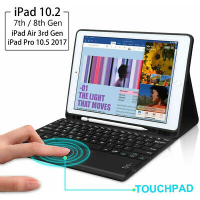 AU59.99 • Buy AU For IPad 7th Gen 10.2 2019 Touchpad Bluetooth Keyboard Stand Cover Smart Case