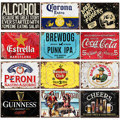 Signs Metal Plaque Aluminium Vintage Pub Tiki Bar Home Cafe Wall Beer Retro Club • 5.89£