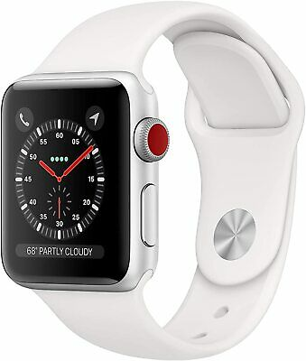 $ CDN358.89 • Buy Apple Watch Series 3 GPS+Cellular, 38mm Silver Aluminum With White Sport Band