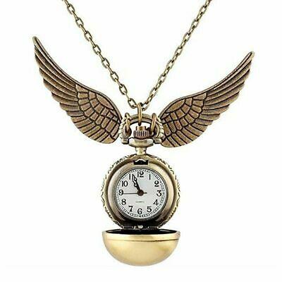 £8 • Buy Harry Potter Golden Snitch Watch Necklace Quidditch Pocket Clock Pendant Steampu
