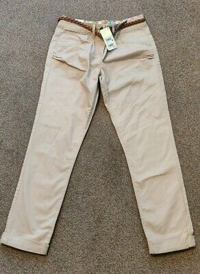£6.99 • Buy Bnwt Next Girls Stone Beige Tapered Trousers Chinos Age 15 Years