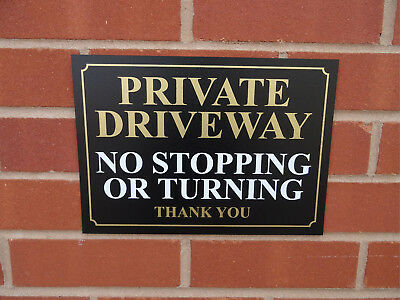 Private Driveway No Stopping Or Turning Thank You Sign - No Parking - All Sizes • 8.09£