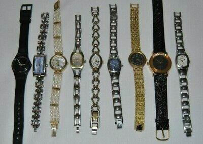 $ CDN19.99 • Buy 9 Assorted Womens Watches, Including A 1986 Swiss Made Swatch, Watch, Lot W4