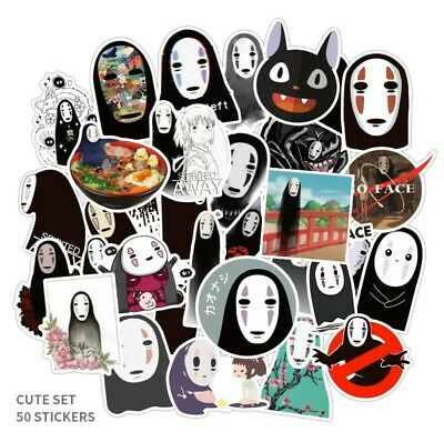 "$ CDN12.55 • Buy Spirited Away Faceless Man Anime 50 Stickers Decal Lot 1-3"" Luggage US Seller"