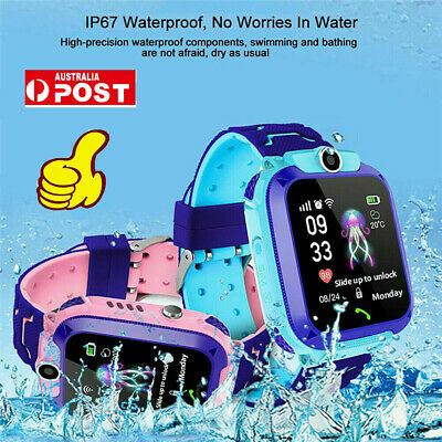 AU23.85 • Buy Smart Watch With GPS GSM Locator Touch Screen Tracker SOS For Kids Children 9B