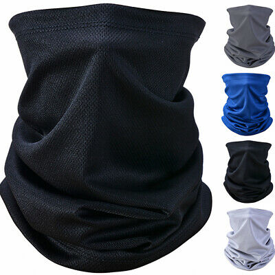 AU10.85 • Buy Full Function Face Warmer Cover Neck Tube Scarf Biker Bandana Plain Solid Colour