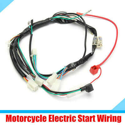 $13.58 • Buy Dirt Bike Motorcycle Wiring Harness Machine Electric Start Wiring Loom Harness