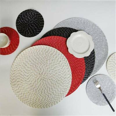 AU4.54 • Buy Round Heat Insulation Placemats Dining Table Kitchen Washable Non-slip Mat MA