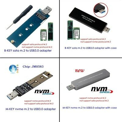 AU14.99 • Buy NGFF M.2 NVME SSD SATA SSD To USB3.0 Adapter Card Reader Test Card Hard Disk Box