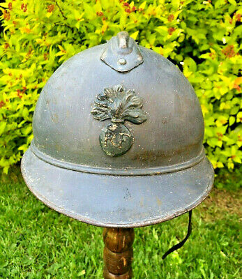 Ww1 French Steel Helmet Great War Original,untouched Sleeper From France. • 145£