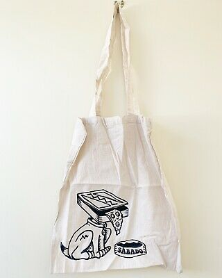 Bnwot Sabado Pizza Dog Cotton Canvas Tote Bag. Reusable Shopping Bag. Skate. • 3.99£