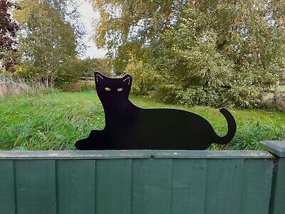 Metal Cat Fence Topper Garden Ornament - Part Of A Collection Of Metal Animals • 15.99£