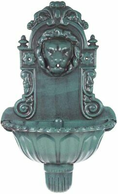 £44.95 • Buy New Lion Head Water Feature Bird Bath Water Fountain Antique Green Wall Mounted
