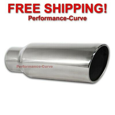$ CDN57.66 • Buy Stainless Steel Exhaust Tip Rolled Angle Cut - 3.5  Inlet - 5  Outlet - 15  Long