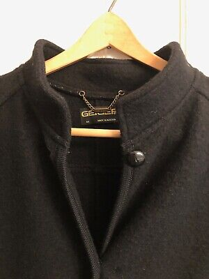 $44 • Buy Geiger Women's Jacket Coat Black Wool Size 44 EUC