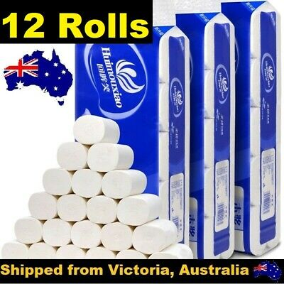 AU17.90 • Buy 12 Rolls Toilet Paper Soft & Strong High Quality Bulk Tissue 4 Ply Au Stock