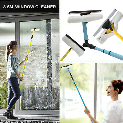 3.5m Window Glass Cleaner Telescopic Conservatory Cleaning Kit Wash Squeegee New • 19.77£