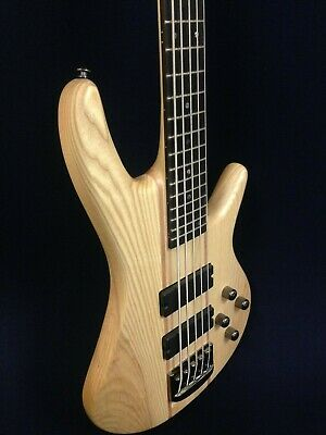 $ CDN397.17 • Buy Haze 5-String Electric Bass Guitar,Pre-Amp,Natural Matt+Free Gig Bag B-337N