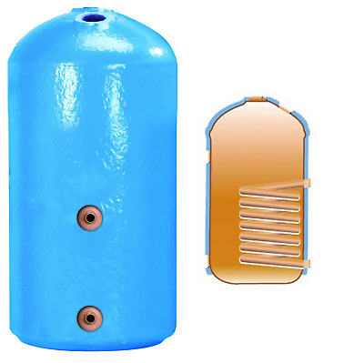 Copper Hot Water Cylinder Indirect Tank Heater Vented Immersion Thermostat • 170£