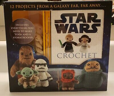 $18.99 • Buy New STAR WARS 12 Pattern Lucy Collins CROCHET KIT Baby Yoda Stormtrooper